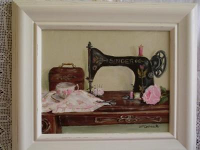 Tea Break in Amy's Sewing Room